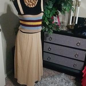 Crochet knit dress Med